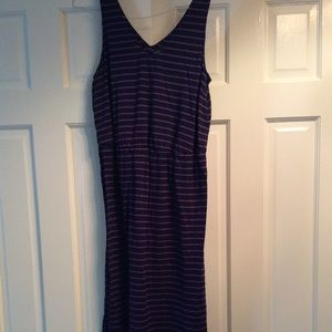Purple on Purple Stripe Dress